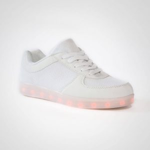 DNK White Shoes with LED